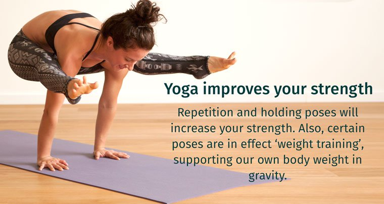 Yoga improves your strength
